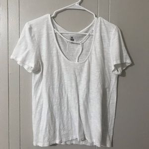 White t-shirt with strappy front